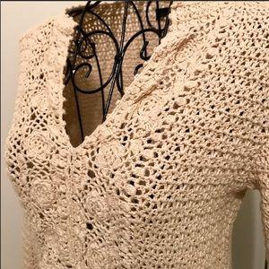 Jcrew crochet sweater